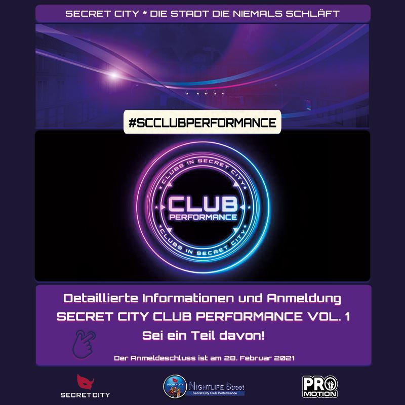 Secret City CLUB Performance Vol. 1
